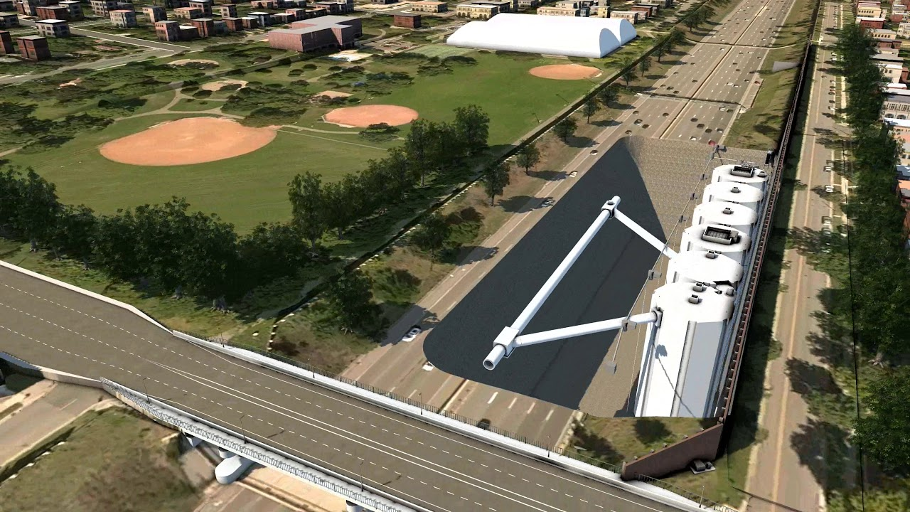 CGI-Rendering of I-35W Stormwater Storage Facility, Minneapolis,MN