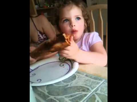 Brianna Eating Pizza