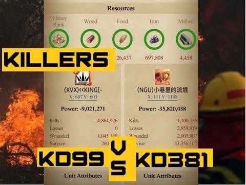 Clash Of Kings - KD 99 Vs KD 381 - KVK 13 Rally Defense
