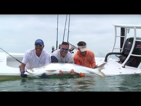 Marine Corps vet with Peter Miller fishing for Tarpon, Snook, Blacktip Sharks and Black Drum - pt 1