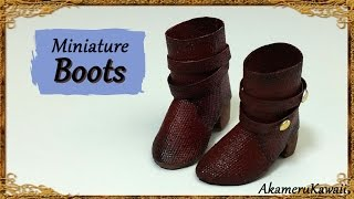 Miniature Doll Boots - Polymer Clay/Fabric Tutorial