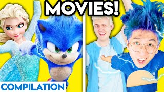 MOVIES WITH ZERO BUDGET! (Frozen, Sonic, Pennywise the Clown, Wreck It Ralph, Incredibles, & MORE!)