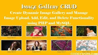 Image Gallery CRUD with PHP and MySQL