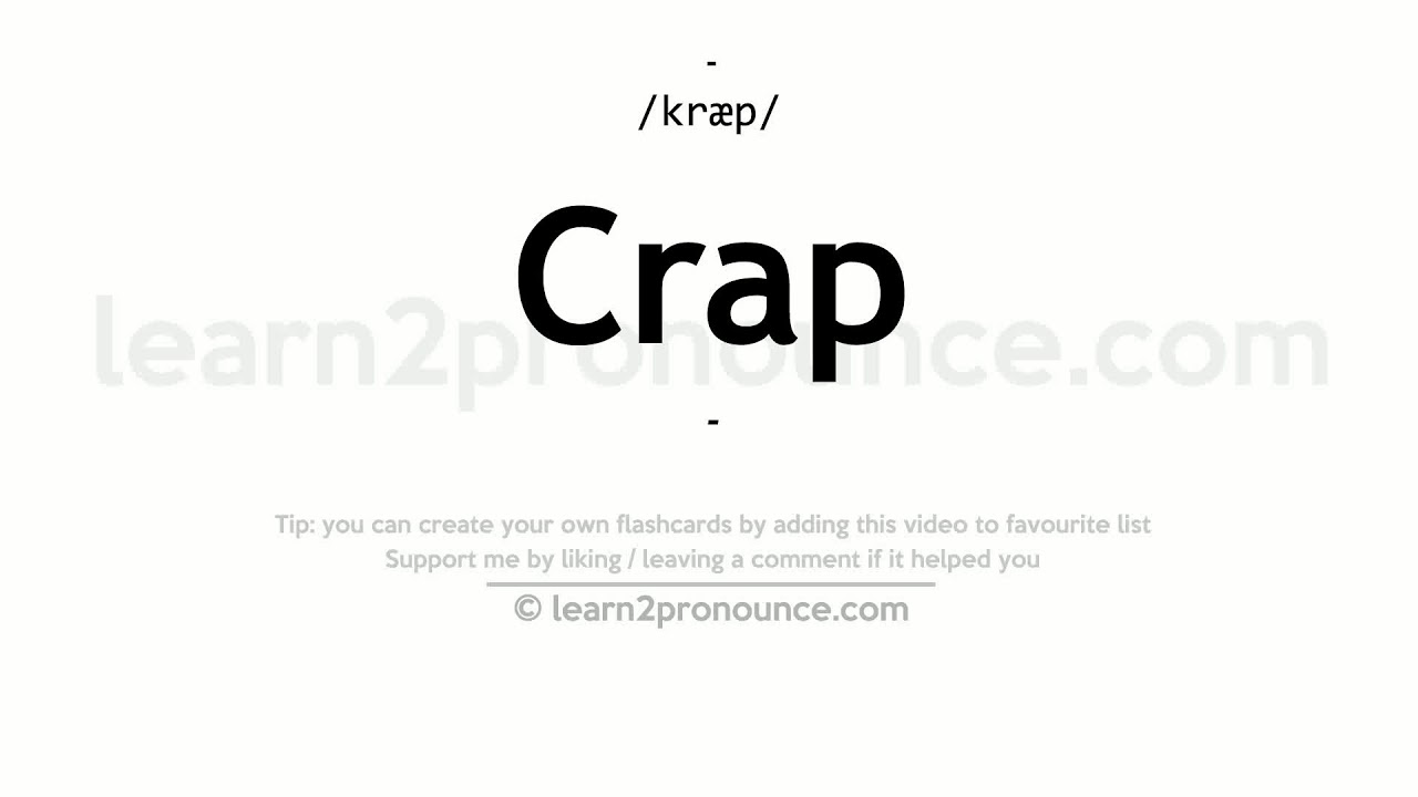 Crap Meaning