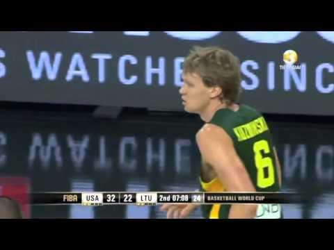 Mindaugas Kuzminskas explodes vs. Team USA