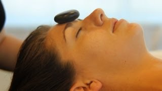 How to Place Stones for Facial Massage | Hot Stone Massage