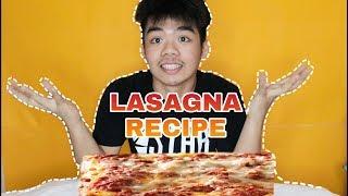 Baked lasagna recipe //Vlog #7//JAMES ROMERO