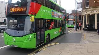 Buses 1, 6 and 97 at Woodhouse Lane