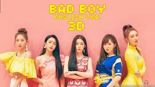 레드벨벳 (RED VELVET) - Bad Boy (English Version) [3D AUDIO USE HEADPHONES] | godkimtaeyeon