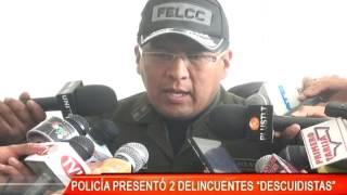POLICÍA PRESENTÓ DOS DELINCUENTES DESCUIDISTAS