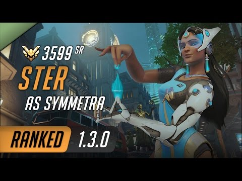 [SR:3599] Ster as Symmetra on King's Row Defend / S2 Master Ranked Gameplay 1.3.0