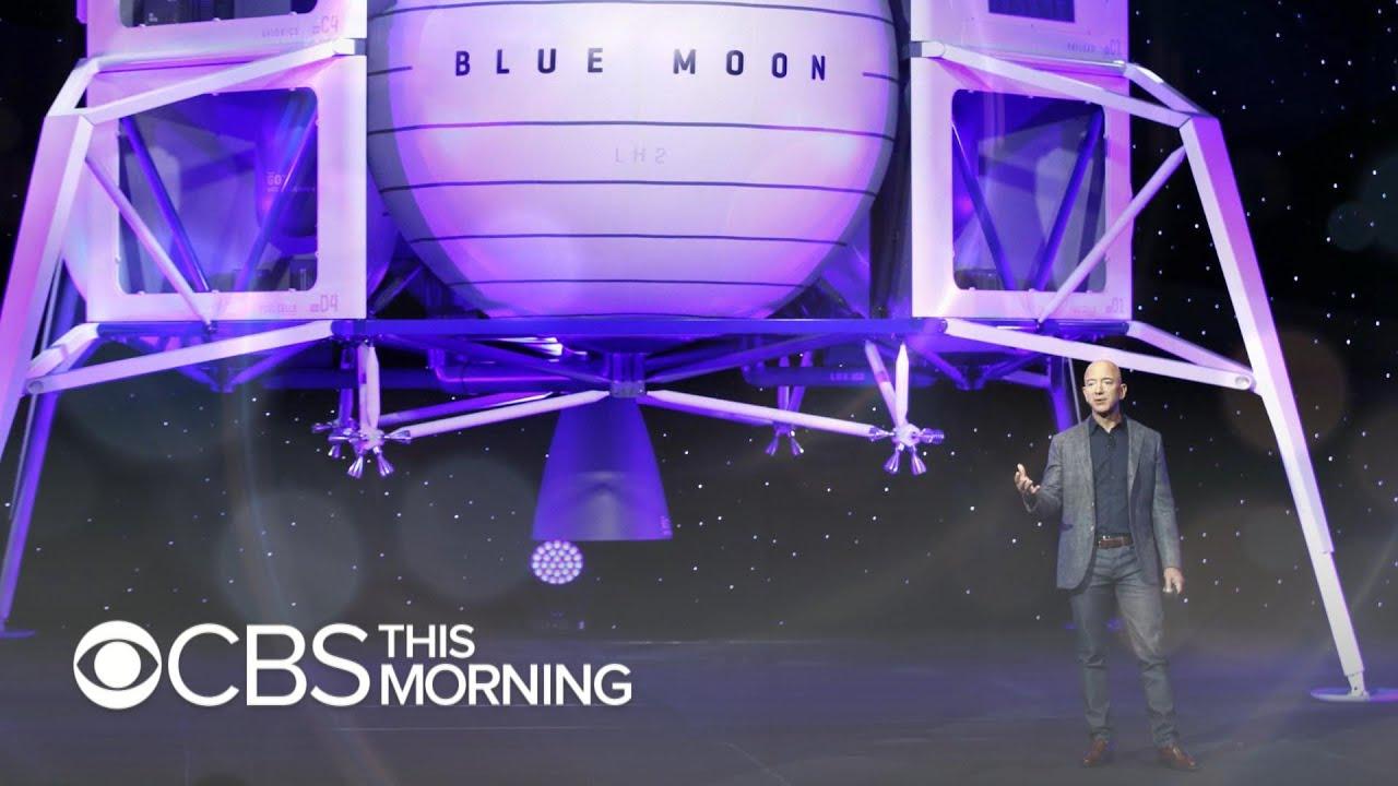336e65218 Jeff Bezos unveils Blue Origin's lunar lander Blue Moon - YouTube