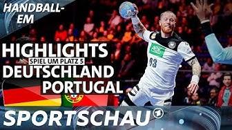 Highlights: Deutschland gegen Portugal im Spiel um Platz 5 | Handball-EM | Sportschau