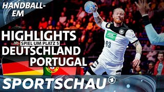 Deutschland spielt zum abschluss der handball-em 2020 im schwedischen stockholm gegen portugal um platz 5. spielbericht / die zusammenfassung. #gerpor #h...