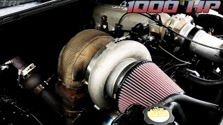 1000hp chevy truck battles twin turbo coyote mustang street racing