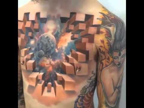 Amazing 3D Tattoo Art done by Jesse Rix - YouTube
