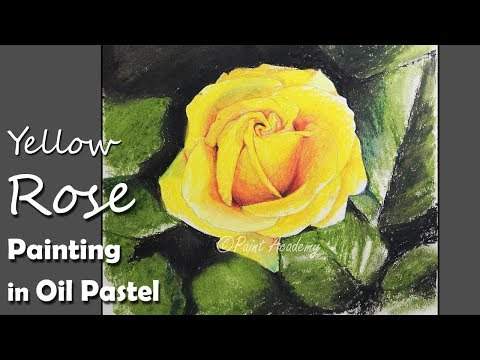 How to Paint A Yellow Rose in Oil Pastel