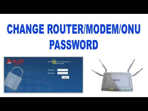 How to change PLDT Home Fibr modem router password - YouTube