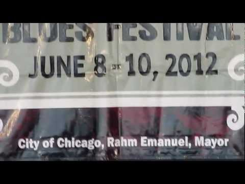 Milton Hopkins and Jewel Brown at the Chicago Blues Fest 2012