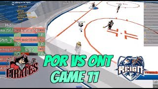 Roblox HHCL MHCL Game 11 POR VS ONT {3-1 POR Final} Highlights