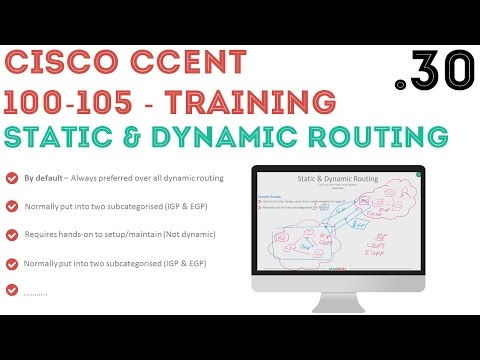 Cisco - CCENT/CCNA R&S (100-105) - Static and Dynamic Routing .30