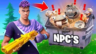 The NPC LOOT *ONLY* Challenge in Fortnite!