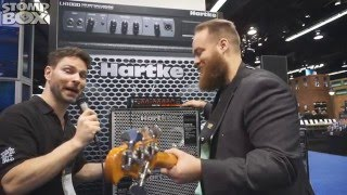 new hartke class d lightweight bass amplifier head tx600 demo at namm 2016