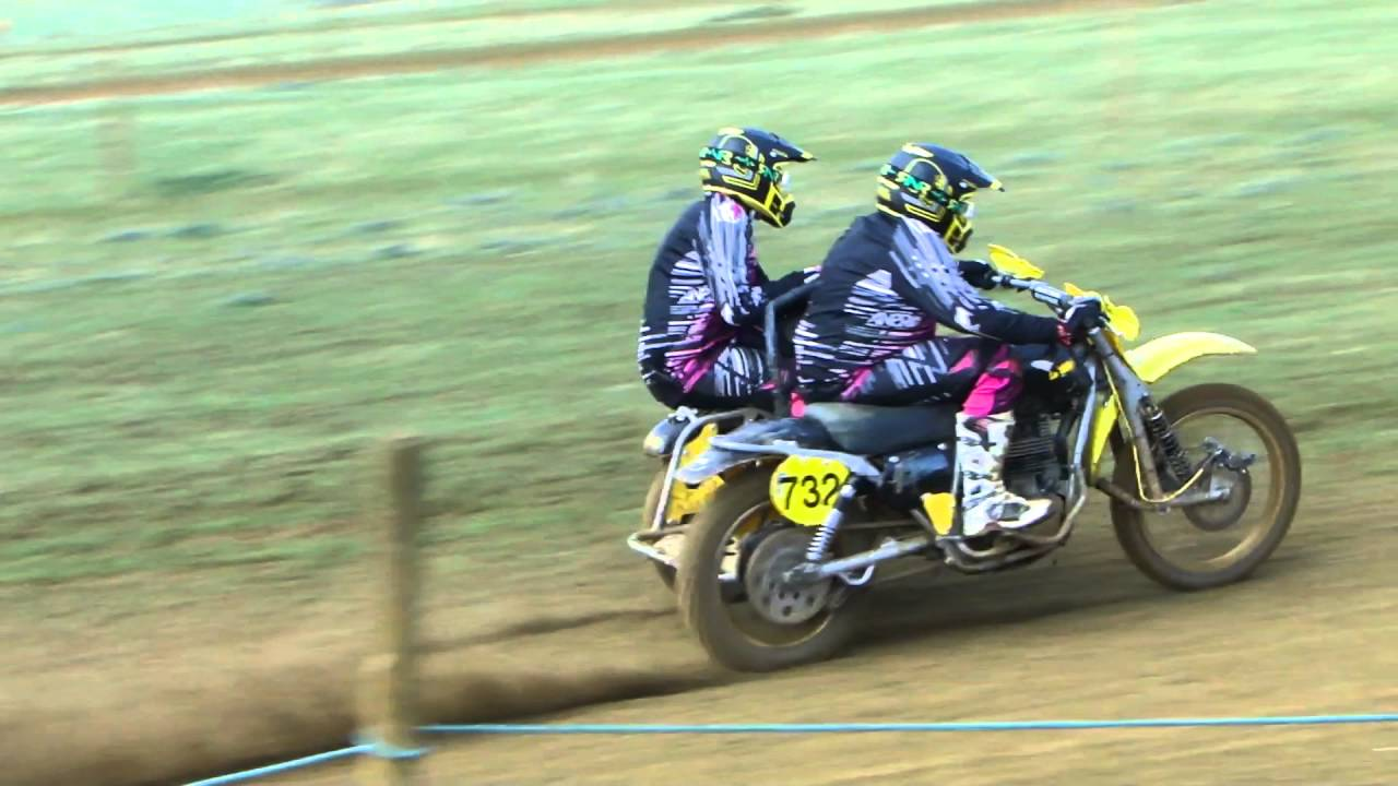 Video vintage de motocross sidecar
