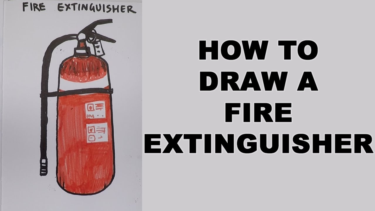 How to Draw a Fire Extinguisher