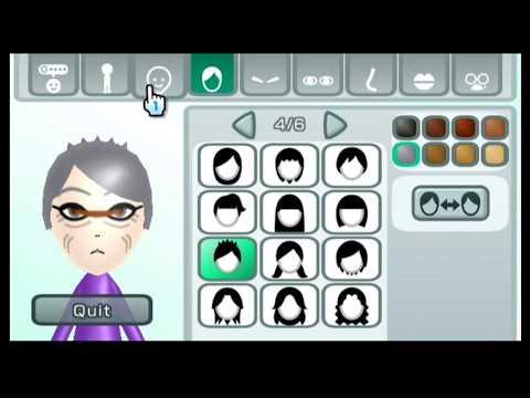 Mii Maker How to make Dark Sheena Fujibayashi Tales of Symphonia) Nintendo Switch/Wii/3DS/WiiU