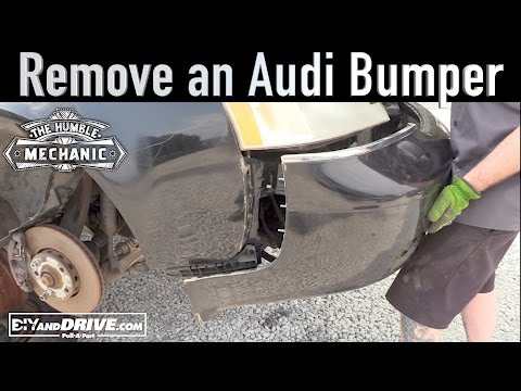 How To Remove an Audi Bumper ~ Salvage Yard Tips