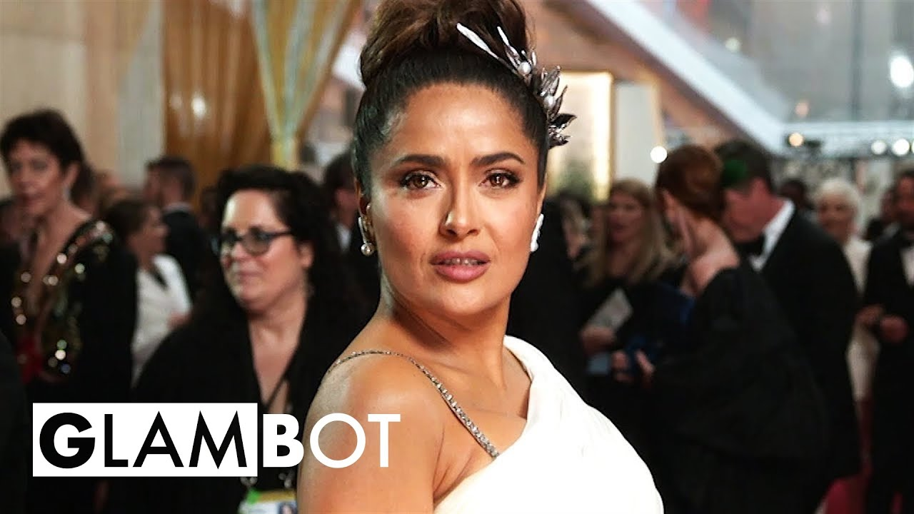 Salma Hayek GLAMBOT: Behind the Scenes at Oscars
