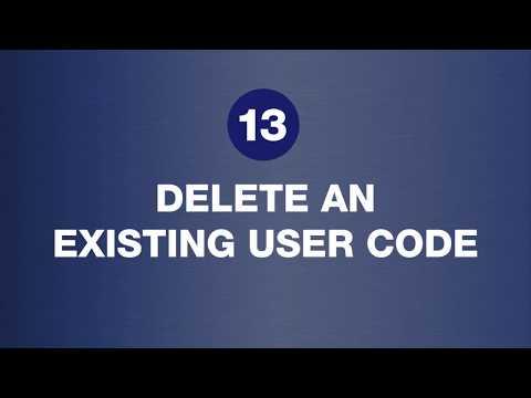 Brink's Digital Deadbolt: Delete An Existing User Code - Step 13