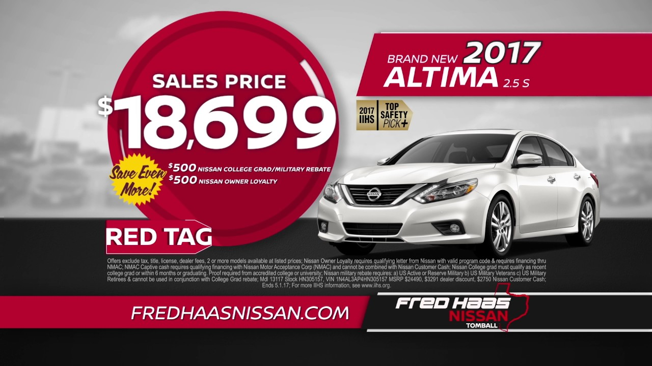 Fred Haas Nissan - Red Tag Car Specials - YouTube
