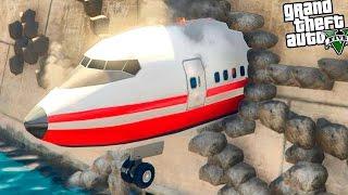 GTA 5 Моды: Карта - КРУШЕНИЕ САМОЛЕТА 2(Обзор мода карты Крушение Самолета в gta 5 - В этот раз самолет упал и пробил насквозь дамбу, много осколок..., 2016-07-31T13:30:00.000Z)