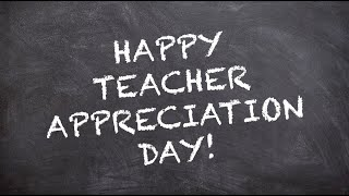 """Happy teacher appreciation day! today, we want to say """"thank you"""" our amazing teachers who continue demonstrate their dedication, strength, creativity ..."""