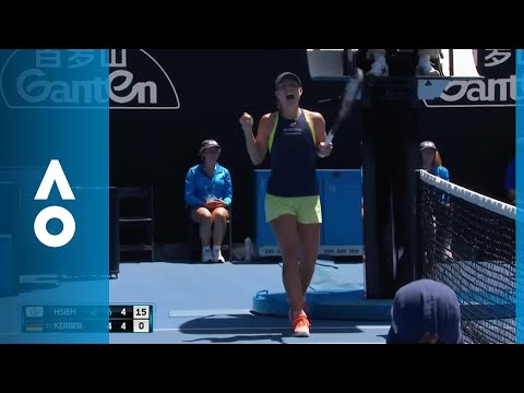 CPA Australia Shot of the Day: Angelique Kerber goes 'round the net | Australian Open 2018