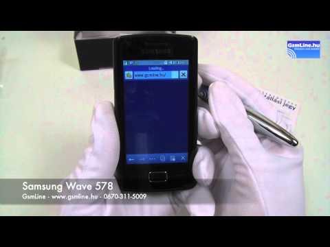 Samsung Wave 578 bemutató | GsmLine.hu
