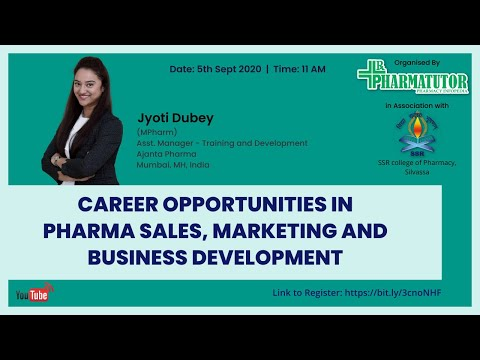 Career opportunities in Pharmaceutical Sales, Marketing and Business Development