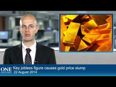 Key jobless figure causes gold price slump