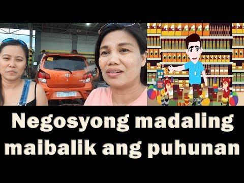 Negosyong Madaling  Maibalik Ang Puhunan