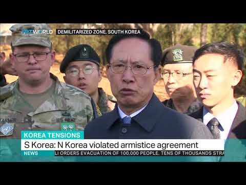 END TIMES NEWS: SOUTH KOREA: NORTH KOREA VIOLATED ARMISTICE AGREEMENT