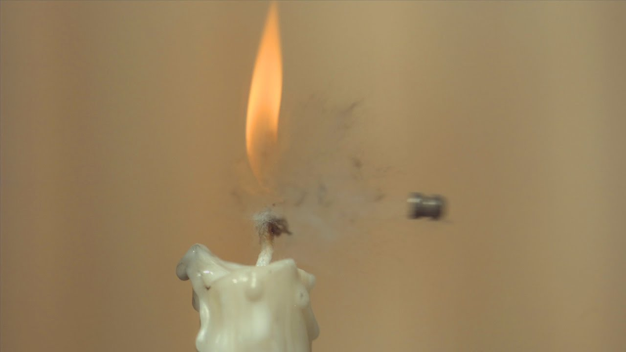 Air Pistol Vs Candle Challenge - The Slow Mo Guys