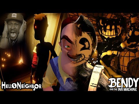 I WASN'T READY FOR THIS (HELLO BENDY)   Hello Neighbor + Bendy And The Ink Machine Halloween Update