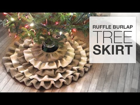 diy no sew burlap tree skirt tutorial - Burlap Christmas Tree Skirt