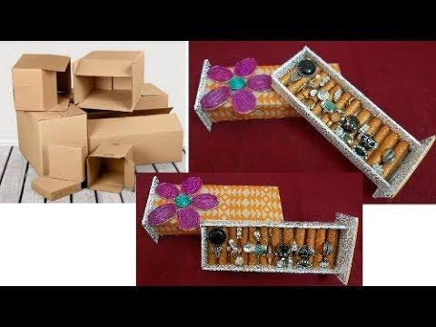 DIY Rings Jewelry Display Box Organizer   Ring Holder   Wow DIY Crafts Inspirations😍