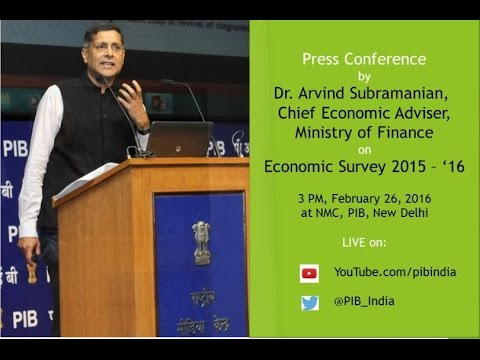Press conference by Chief Economic Advisor on Economic Survey