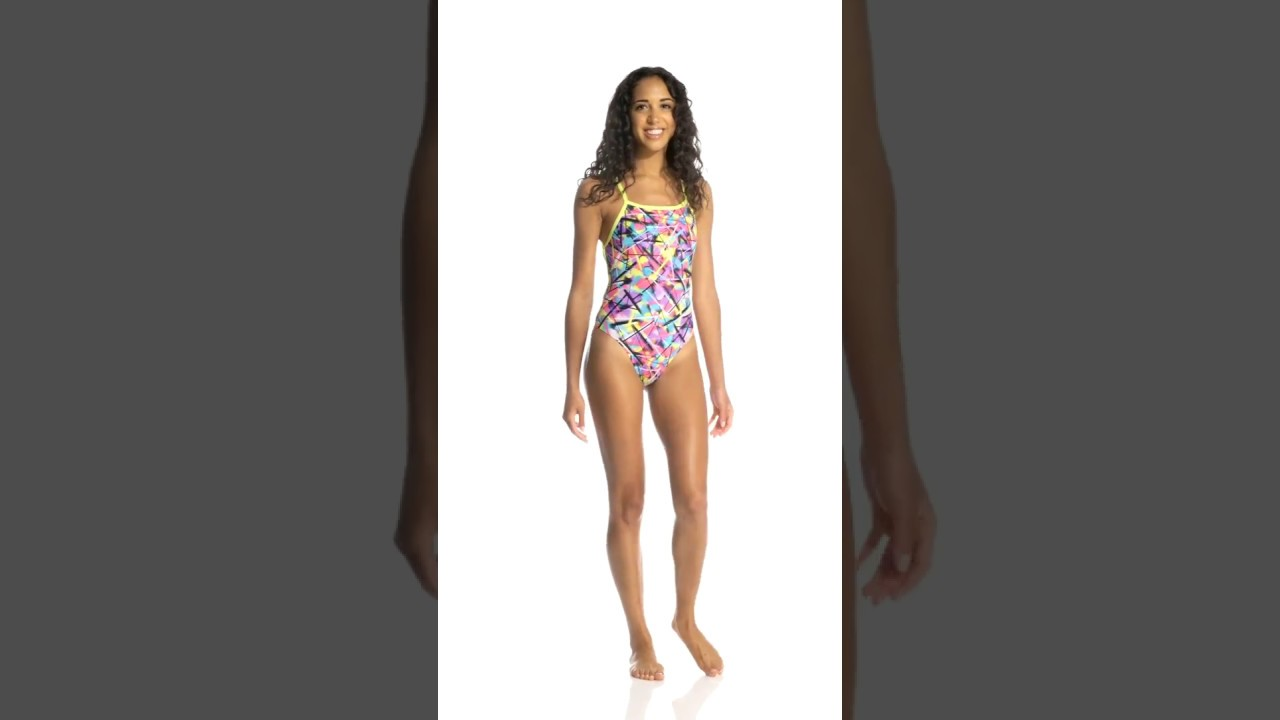 a72ea06b8d Funkita Women's Spray On Strapped In One Piece Swimsuit | SwimOutlet.com