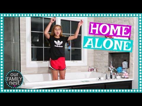 HOME ALONE! OUR PARENTS LEFT US!