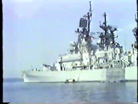 USS Reeves CG-24 Golden Anchor Award 1986, Yokosuka, Japan.